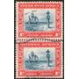 Sudáfrica Oeste (swa) 2 Sellos Usados Se-tenant - Barco 1931