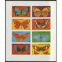 Guinea Ecuatorial Ensayo O Prueba X8 Sellos Nuevos Mariposas