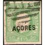 Azores (colonia Portuguesa) Sello Usado Rey Luis I Año 1868