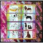 Congo Perros Disney, Bloque 8 Sellos 2010 Usado L6694