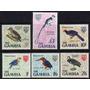 Gambia 6 Sellos Mint Aves Y Pájaros Altos Valores Año 1966