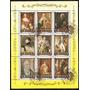 Pinturas Famosas - Serie De 9 Valores En Bloque Temático -