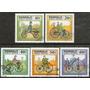Mongolia Serie X 5 Sellos Usados Bicicletas Antiguas 1982
