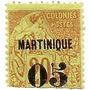 Colonia Francesa Martinica Sello De 20c.resellado 05c.