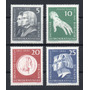 D D R 1961 Mi 857/60** Yv 570/73 Mint Franz Liszt Música/cos
