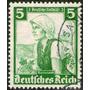 Alemania Sello Usado Mujer = Traje Típico = Sopbretasa 1935