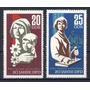 D D R 1967 Mi 1256/57 Yv 953/54 Mint Derechos De La Mujer