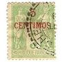 Colonia Francesa Marruecos 5 C.sobrecarga Roja Año 1892