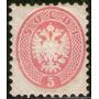 Lombardi-venecia (italia) Sello Nuevo Escudo Armas Año 1864