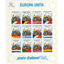 12 Estampillas Italia Tema Union Europea Banderas Año 1993