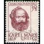 Checoslovaquia Sello Usado 150° Karl Marx Año 1968