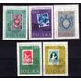 5 Estampillas De Polonia Tema Sello Sobre Sello Año 1960