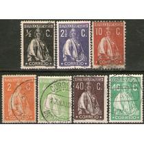 Portugal 7 Sellos Usados Ceres Años 1912-26
