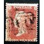 Inglaterra - Sello Sc. 9 1p. Rojo Small Crown 16 Usado L3563