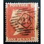 Inglaterra - Sello Sc. 9 1p. Rojo Small Crown 16 Usado L3562