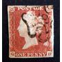 Inglaterra - Sello Sc. 3 1p. Rojo Cruz Malta Nro 6 L3568