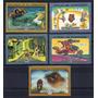 Rusia 1988 Sc 5637/41** Mint Caricaturas Soviéticas Animadas