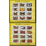 Flores Mariposas Serie Completa De Estampillas Mint En Bloqu