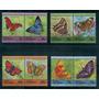 Tuvalu Mariposas Y Flora Serie Completa Nueva Mint