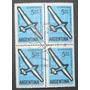 Estampilla Argentina Cuadro X 4 Primer Dia Vuelo A Vela 1963