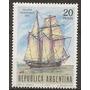Argentina Goleta Año1967 Serie 1v. N°793 Gj N°1412 Mint