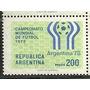 Estampilla Argentina Futbol 1110a Con Filigrana 100 Dolares