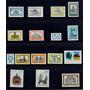 Hoja Exhibidora Con 16 Sellos Nacionales Mint