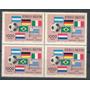 Argentina Estampillas Pet #1285 Block X 4 Futbol Mint