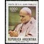 Argentina Visita De S .s. Papa Juan Pablo 2° = Año 1982
