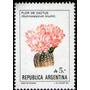 Argentina Sello Flor De Cactus Gymnocalcyum Bruchii A 5,00