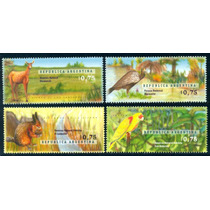 * Argentina 1996 Gj 2784/87 Mt 2076/79 Parques Fauna