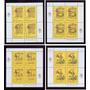 Argentina 1989 Gj Hb 80/3 Blocks Mint Valor Gj U$ 10 Me U$20