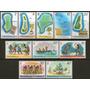 Tuvalu 10 Mint Diferentes Con Temática Años 1976 /78 - Mapas