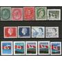 Canadá Lote De 14 Sellos Usados Reyes-banderas 1898-1998