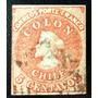 Chile, Sello Sc. 3 Colón 5c. 1era Santiago 1854 Usado L6556