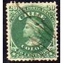 Chile 1 Usado Cristóbal Colón Verde 20c. Año 1867 = Yvert 15
