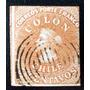 Chile, Sello Sc 4 Colón 5c Siena 1era Santi 1854 Usado L6558