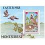 Filatelia: Montserrat Yv. 669/672 - Bl. 45 (1988) ¡aves!
