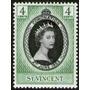 St. Vincent Sello Nuevo Coronación Elizabeth 2° Año 1953