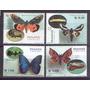 Mariposas Con Sus Orugas - Panama - 2001 - 4 Estampillas