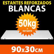 Estantes Blancos Metalicos 90x30cm 50kg X Estante Reforzados