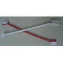 Cepillo Dental Largo Doble Para Perros - Envío Gratis