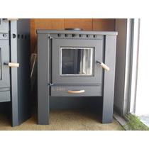 Estufa Salamandra Calefactor A Leña Lepen 13000 Kcal Alto