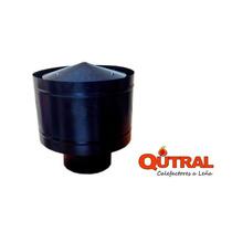 Qutral Sombrero Negro De 6 Pulgadas Para Estufa A Leña