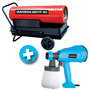 Calefactor Portátil Gamma 40 A Gasoil + Equipo De Pintar 350