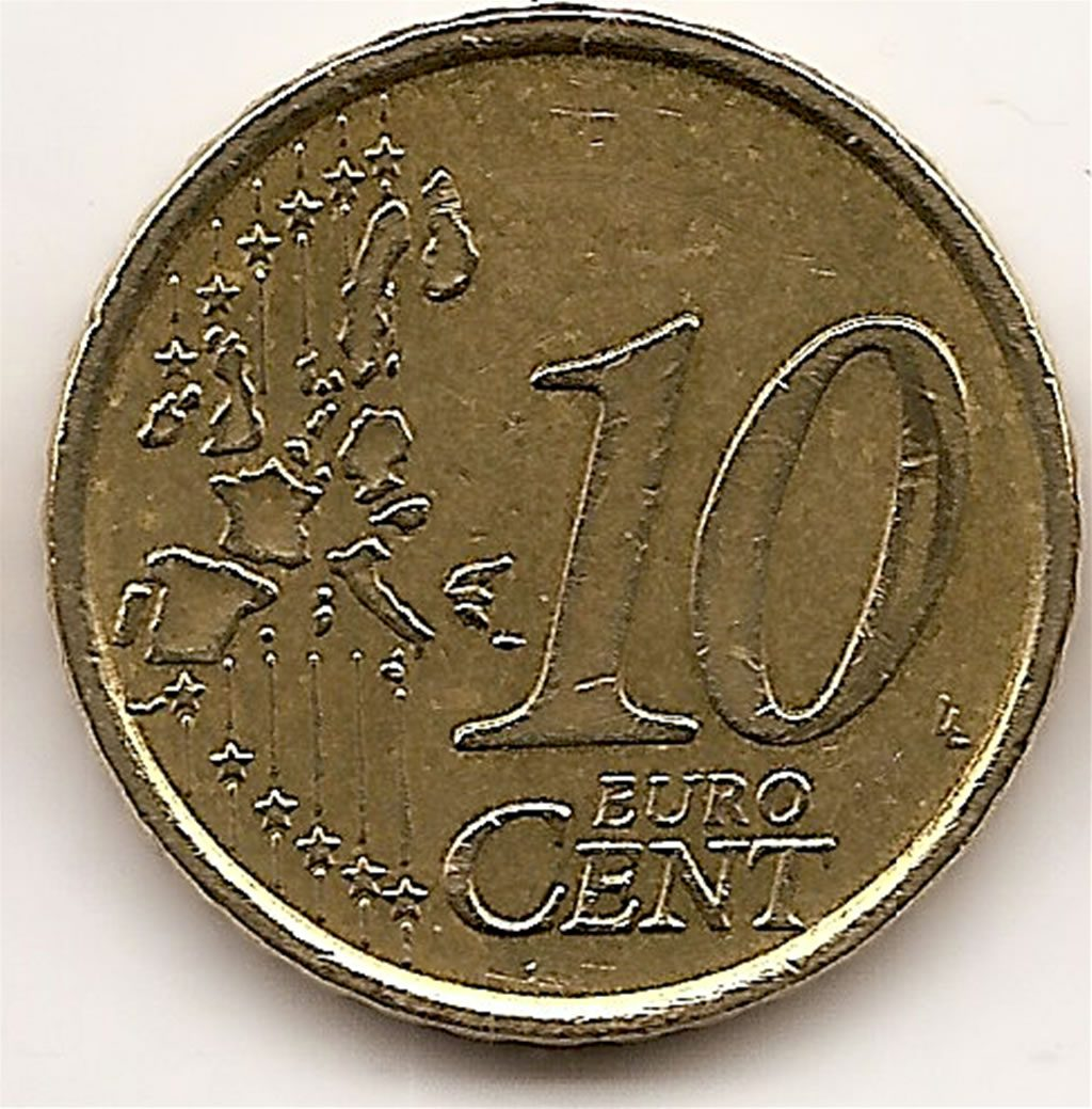 Displaying 19> Images For - 10 Euro Cent 2002...