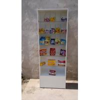 Exhibidor/estanteria/caramelera En Melamina Y Vidrio!!!