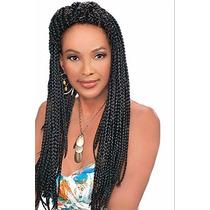 Kanekalon Jumbo Para Trenzas Africanas Color Negro O Platino