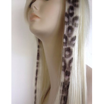 Extensiones Mechas Clips Cabello Animal Print Combo X 6uds