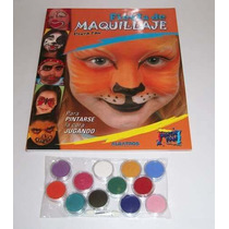 Kit Maquillaje Acuarelable Pintafan 12 Colores - 4,5g